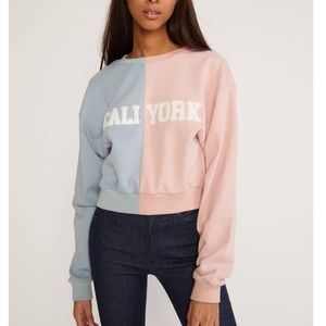 Cynthia Rowley CALI YORK cropped sweatshirt
